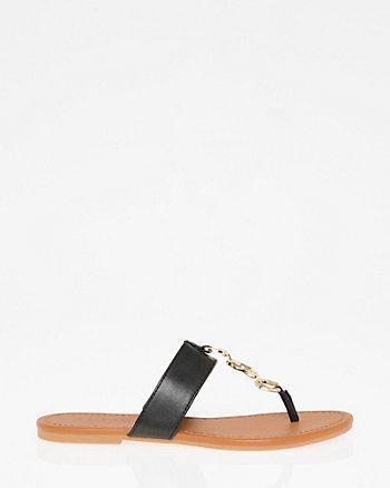 Chain T-Strap Sandal