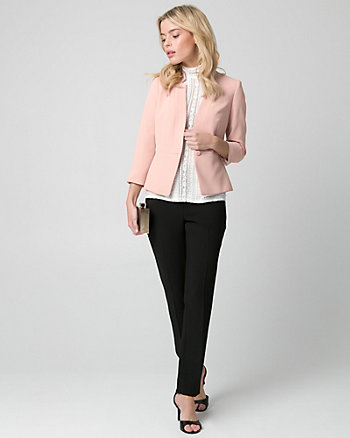 Crêpe Inverted Collar Blazer