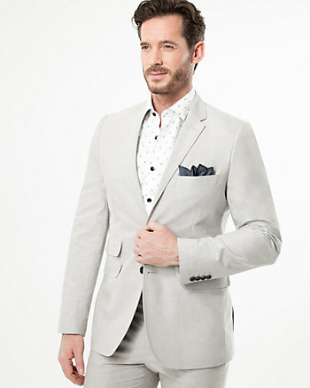 Cotton Piqué Slim Fit Blazer