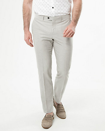 Cotton Piqué Slim Leg Pant