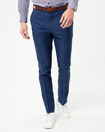 Tonal Linen Blend Slim Leg Pant