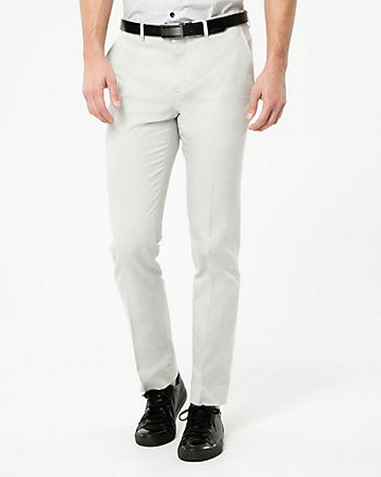 Birdseye Cotton Straight Leg Pant