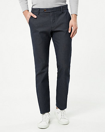 Cotton Blend Slim Fit Pant