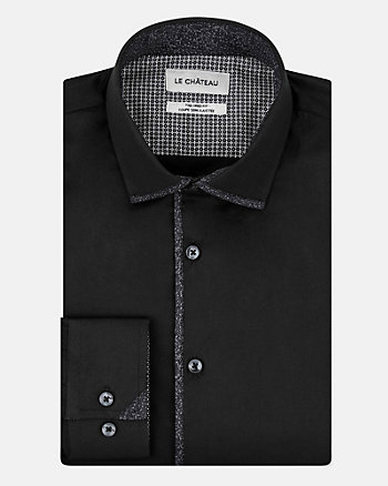 Stretch Poplin Tailored Fit Shirt