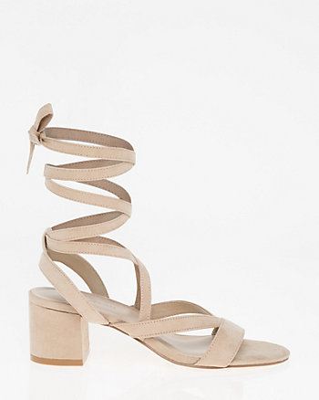 Lace-Up Open Toe Sandal