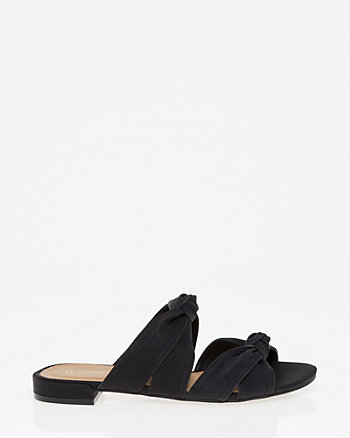 Knotted Double Band Slide Sandal