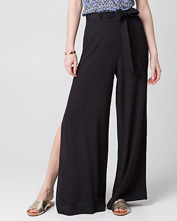 Pantalon à jambe large en viscose