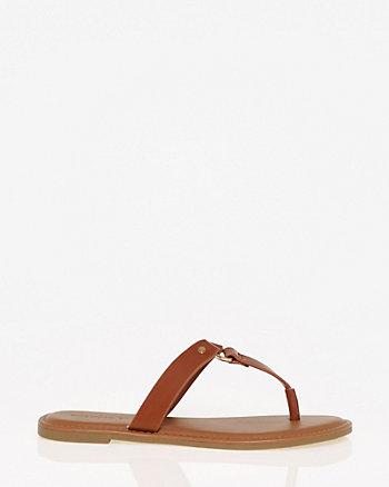 Metal Ring Thong Sandal