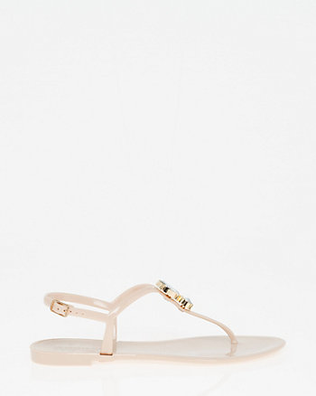 Jewel Embellished Jelly Sandal