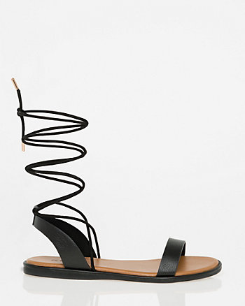Lace-Up Flat Sandal