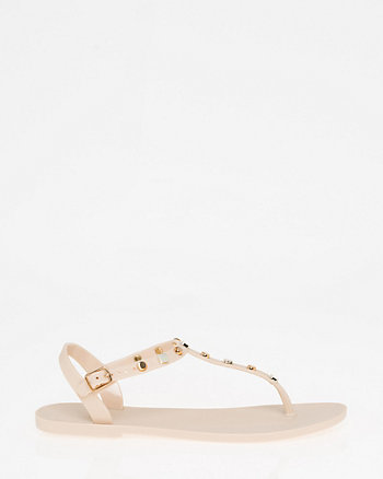 Studded Jelly Thong Sandal