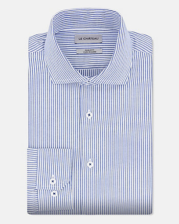 Stripe Cotton Regular Fit Shirt