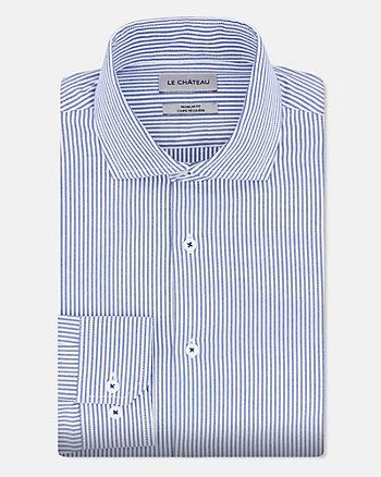 Chemise rayée de coupe régulière en coton