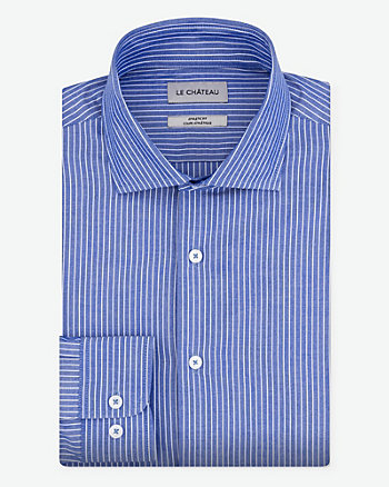 Stripe Cotton Athletic Fit Shirt