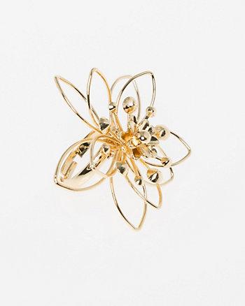 Floral Metal Ring