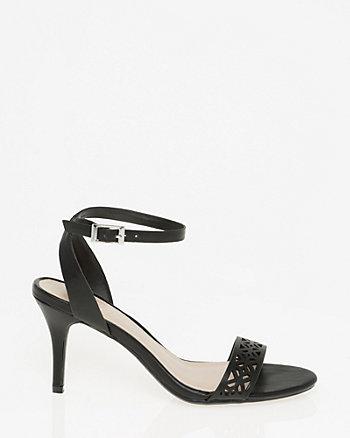 Laser Cut Ankle Strap Sandal