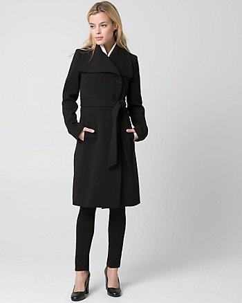 Double Weave Belted Trench Coat