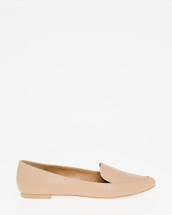 Faux Leather Pointy Toe Loafer