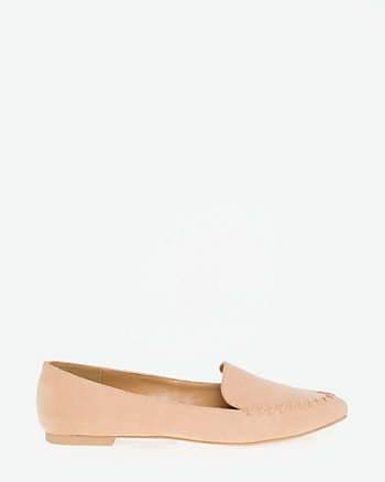 Suede-Like Pointy Toe Loafer