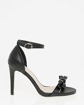 Leather-Like Ankle Strap Sandal