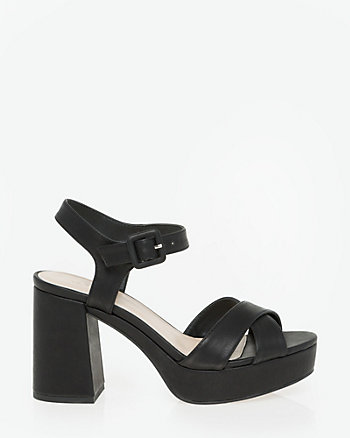 Faux Leather Criss-Cross Sandal