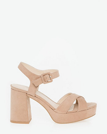 Suede-Like Criss-Cross Sandal