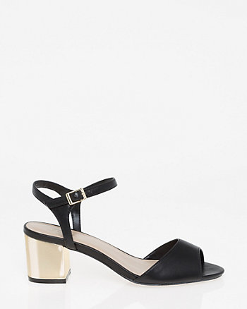 Electroplated Block Heel Sandal