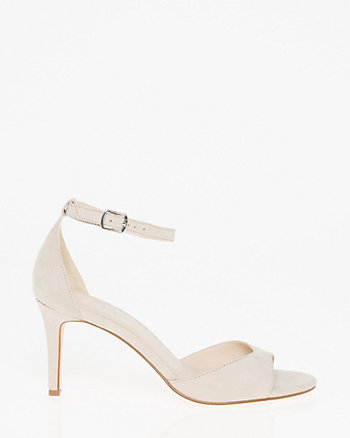 Suede-Like Ankle Strap Sandal