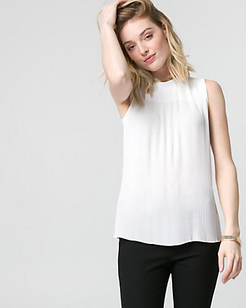 Crêpe de Chine Pleated Blouse