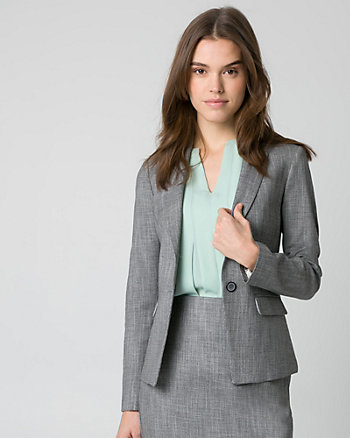 Crosshatch Viscose Blend Blazer