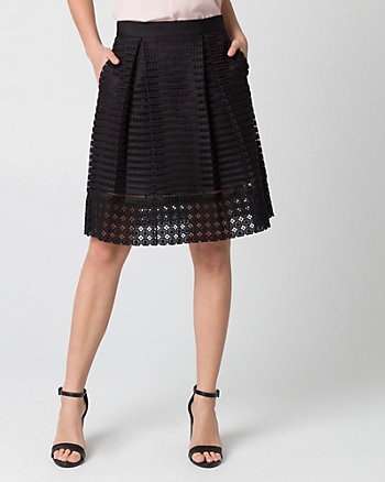 Bonded Mesh Shadow Full Skirt