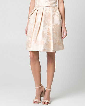 Metallic Jacquard Full Skirt