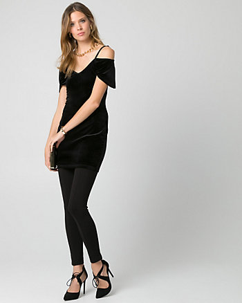 Velvet Off-the-Shoulder Tunic Top
