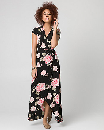 Floral Print Crêpe de Chine Maxi Dress