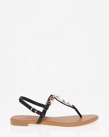Embellished Slingback Thong Sandal