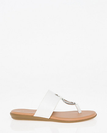 Metal Ring Thong Sandal