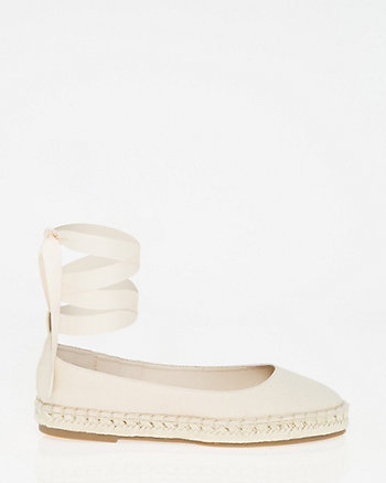 Canvas Lace-Up Espadrille