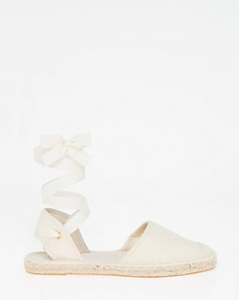 Canvas Lace-Up d'Orsay Espadrille