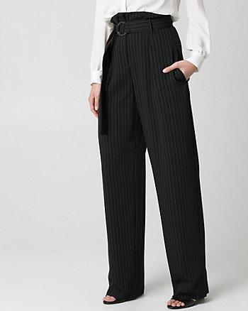Stripe Woven Wide Leg Pant