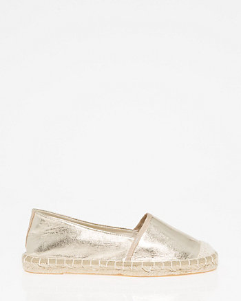 Canvas & Faux Leather Espadrille