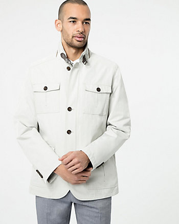 Cotton Blend Mailman Jacket
