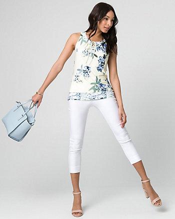 Floral Print Knit Halter Top