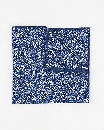 Novelty Print Cotton Blend Pocket Square