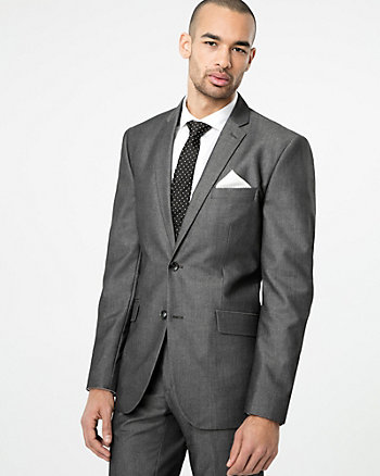 Tonal Viscose Blend Contemporary Fit Blazer