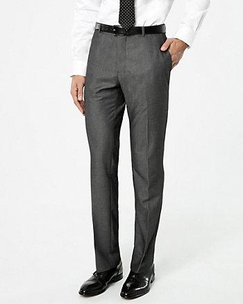 Tonal Viscose Blend Straight Leg Pant