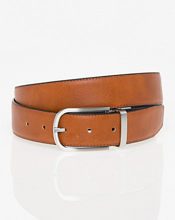 Reversible Bonded Leather Prong Belt