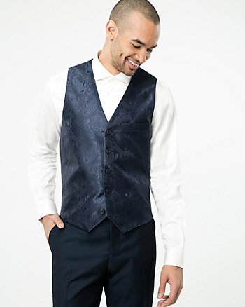 Reversible Jacquard Contemporary Fit Vest