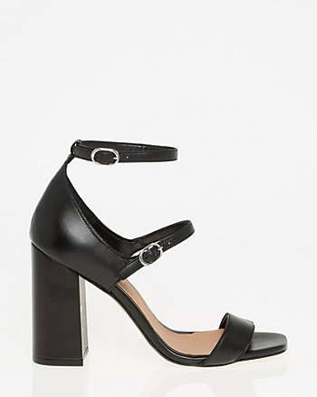 Italian-Designed Leather Ankle Strap Sandal
