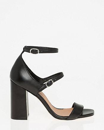 Italian-Designed Leather Ankle Strap Sandal