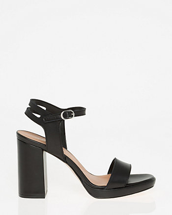 Leather Open Toe Platform Sandal